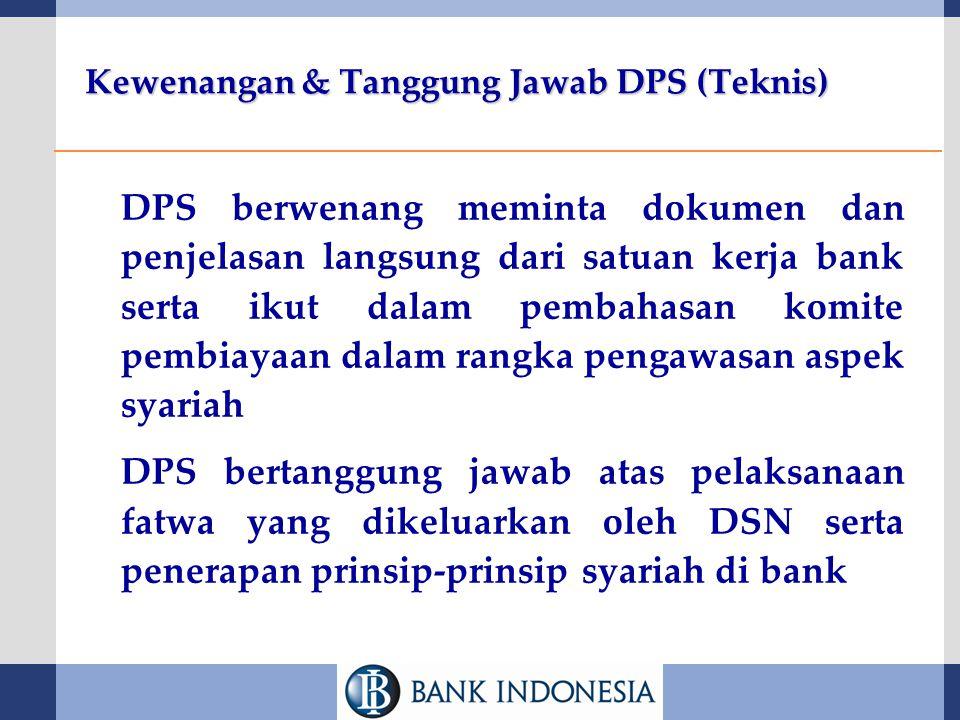 Kewenangan & Tanggung Jawab DPS (Teknis)