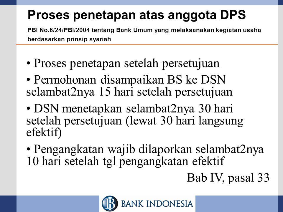 Proses penetapan atas anggota DPS