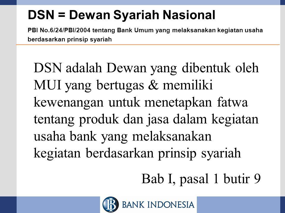 DSN = Dewan Syariah Nasional