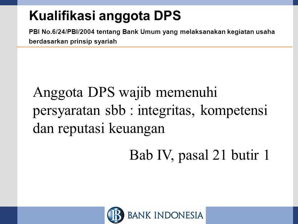 Kualifikasi anggota DPS