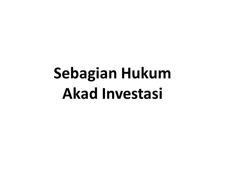 Sebagian Hukum Akad Investasi
