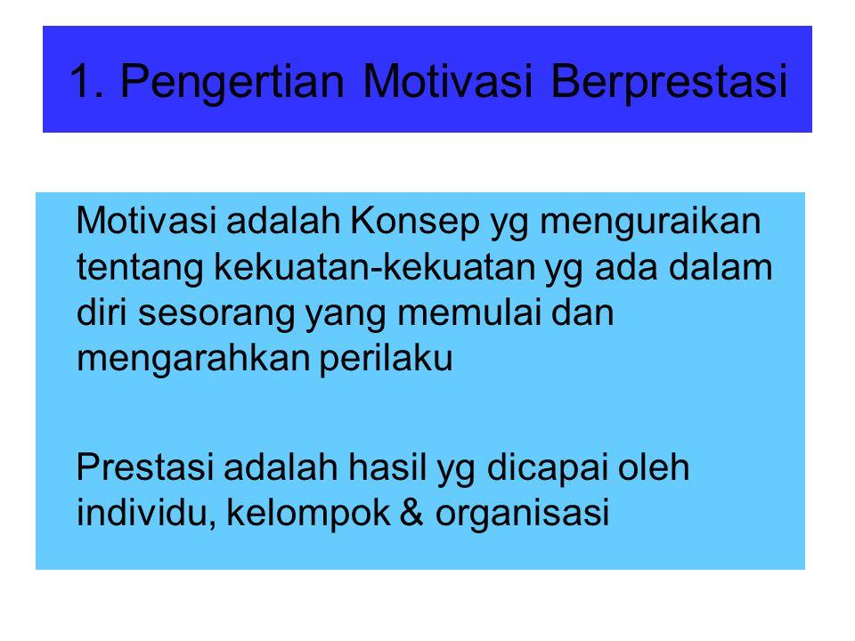 1. Pengertian Motivasi Berprestasi