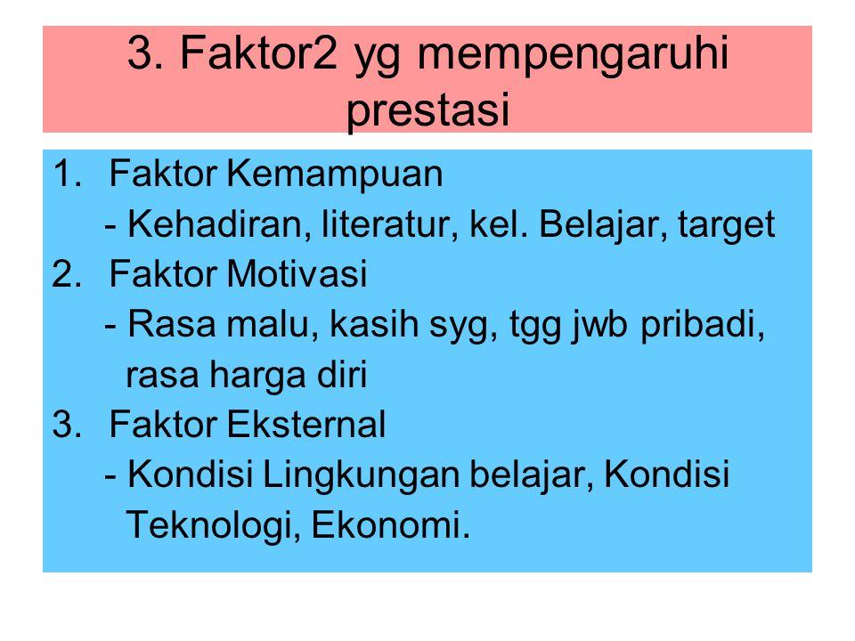 3. Faktor2 yg mempengaruhi prestasi