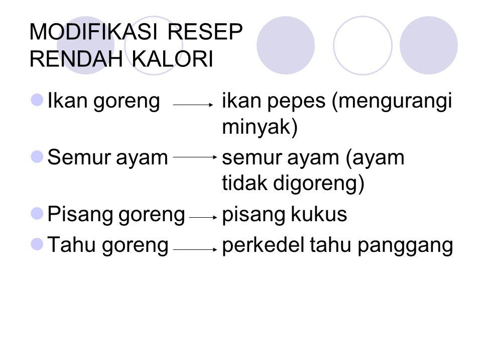 MODIFIKASI RESEP RENDAH KALORI