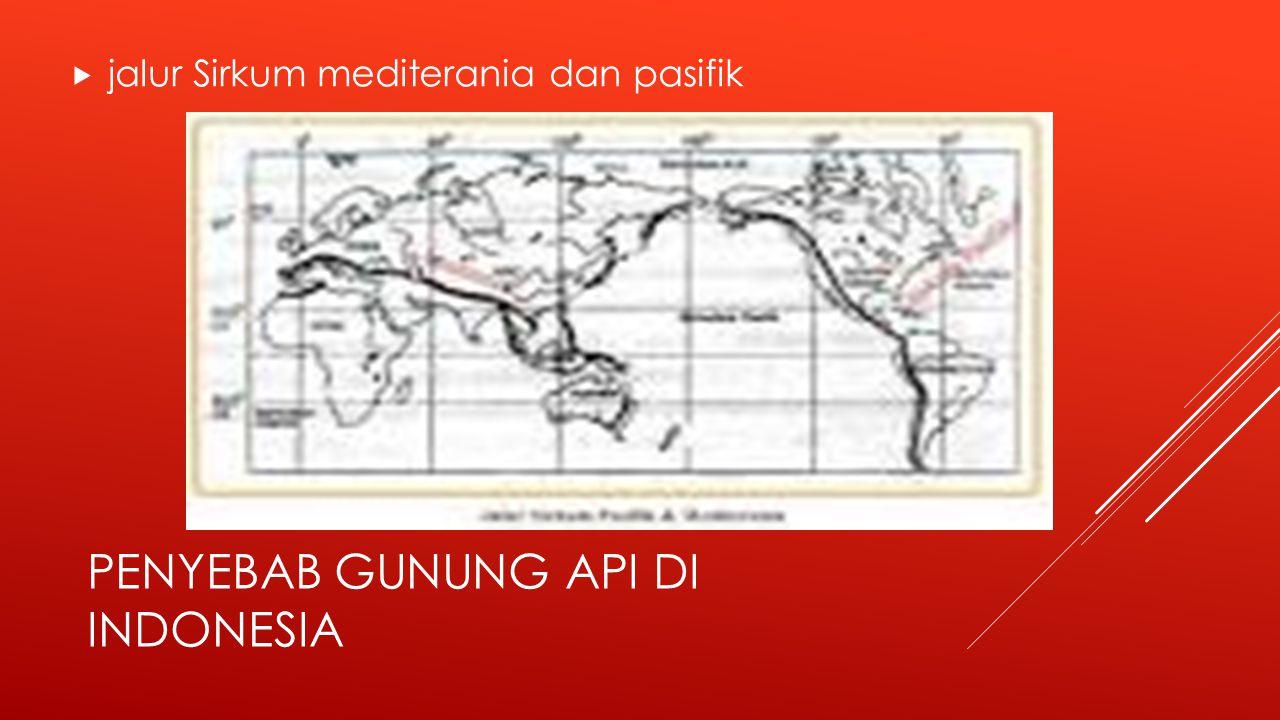 Penyebab gunung api di indonesia