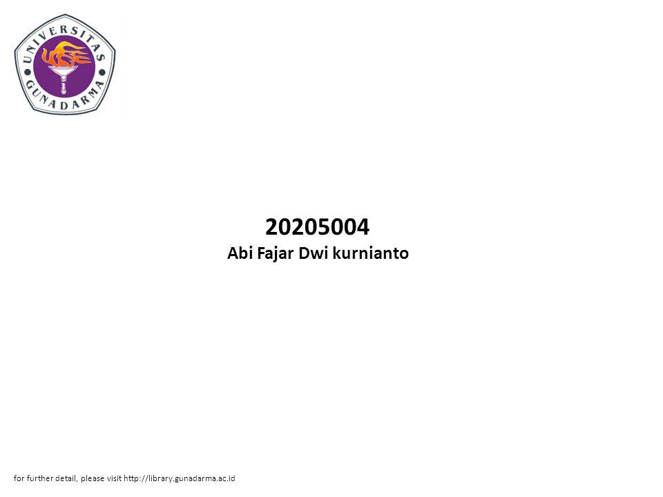 20205004 Abi Fajar Dwi kurnianto