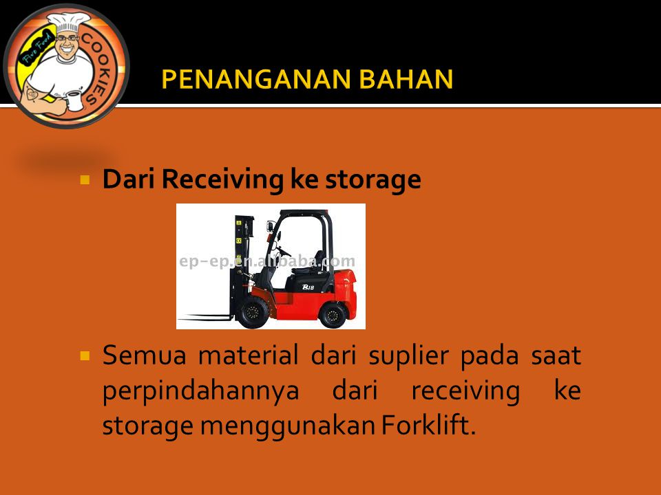 Dari Receiving ke storage