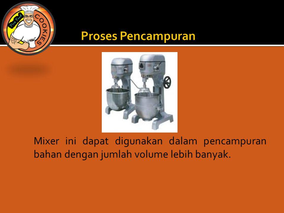 Proses Pencampuran Mixer ini dapat digunakan dalam pencampuran bahan dengan jumlah volume lebih banyak.