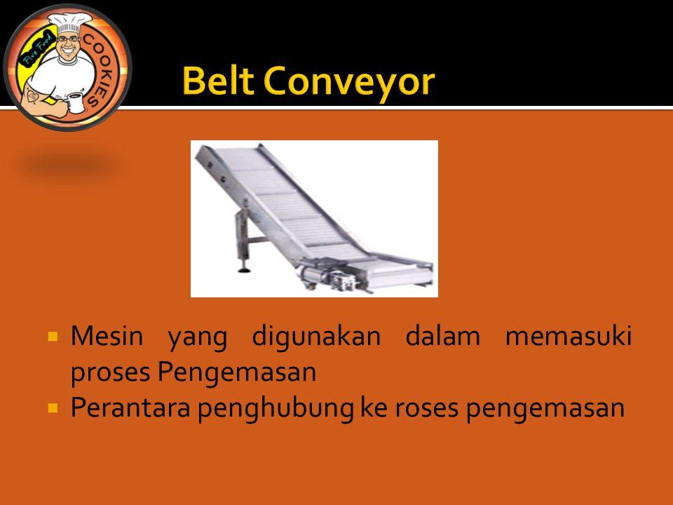 Belt Conveyor Mesin yang digunakan dalam memasuki proses Pengemasan