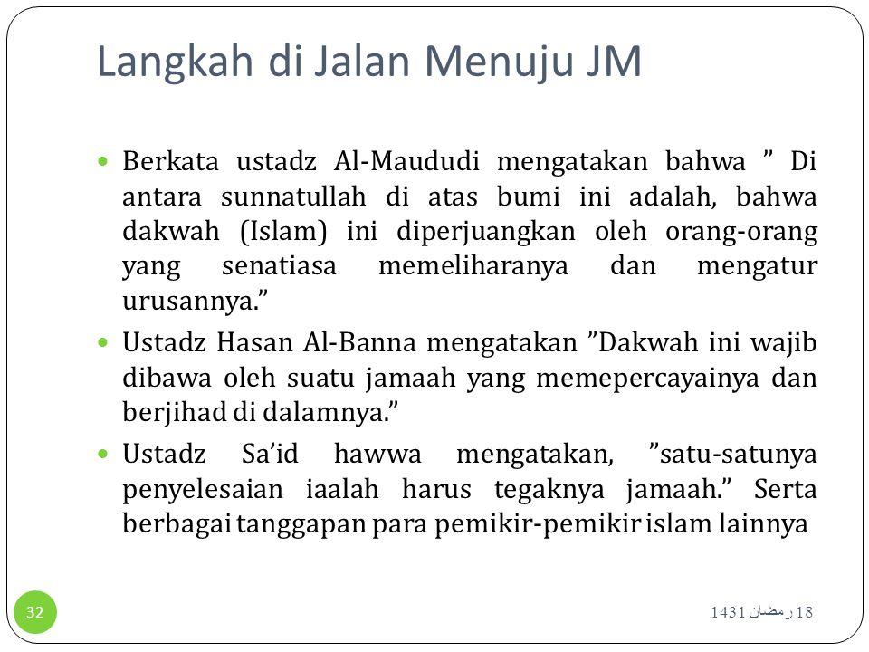 Langkah di Jalan Menuju JM