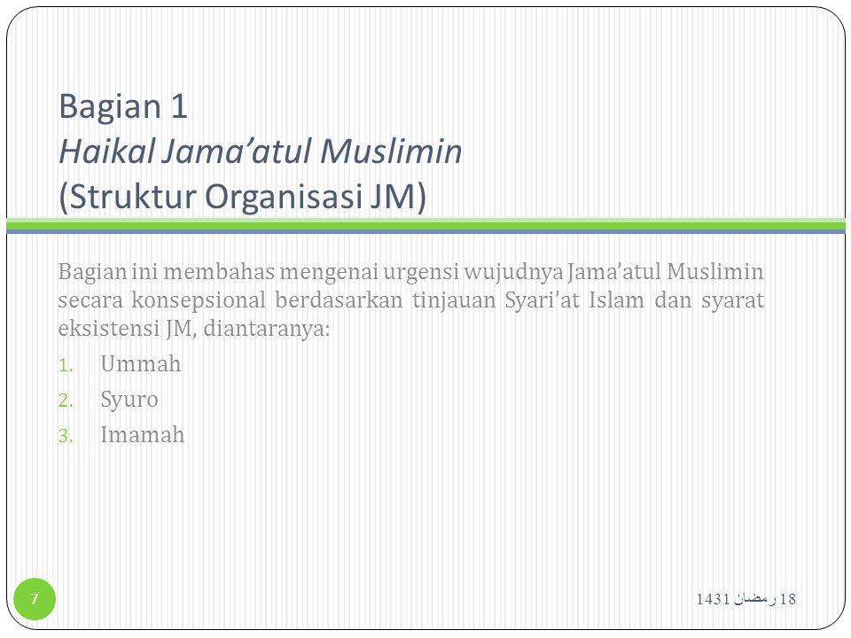 Bagian 1 Haikal Jama'atul Muslimin (Struktur Organisasi JM)