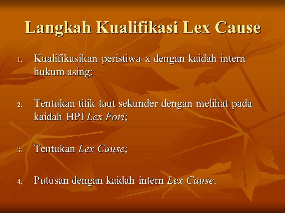 Langkah Kualifikasi Lex Cause