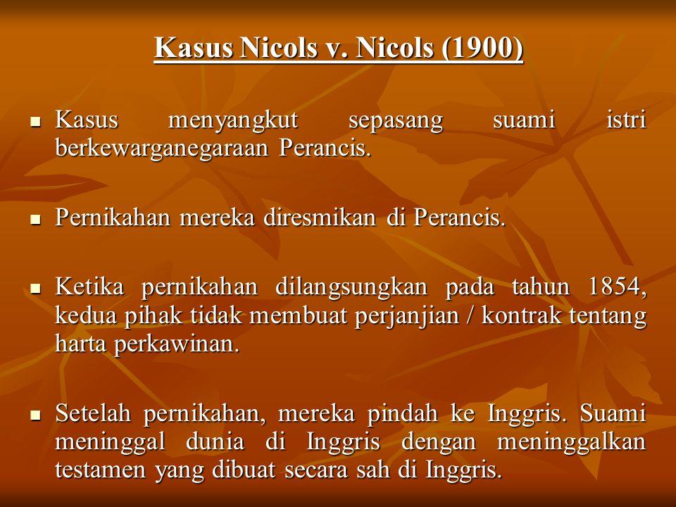 Kasus Nicols v. Nicols (1900)