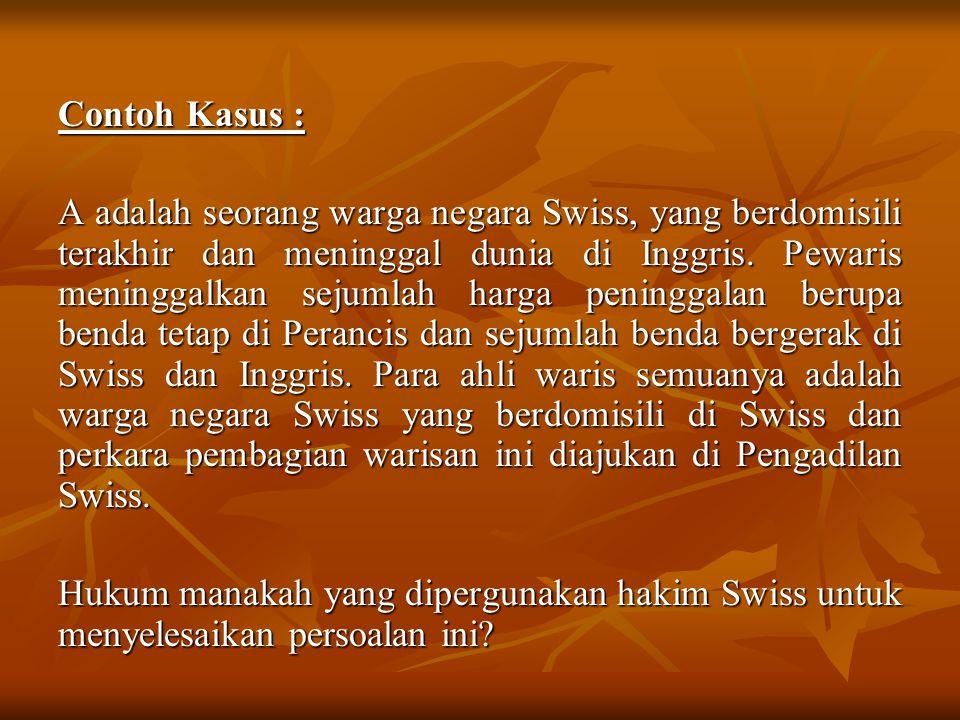 Contoh Kasus :