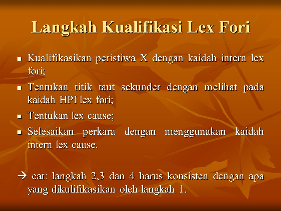 Langkah Kualifikasi Lex Fori