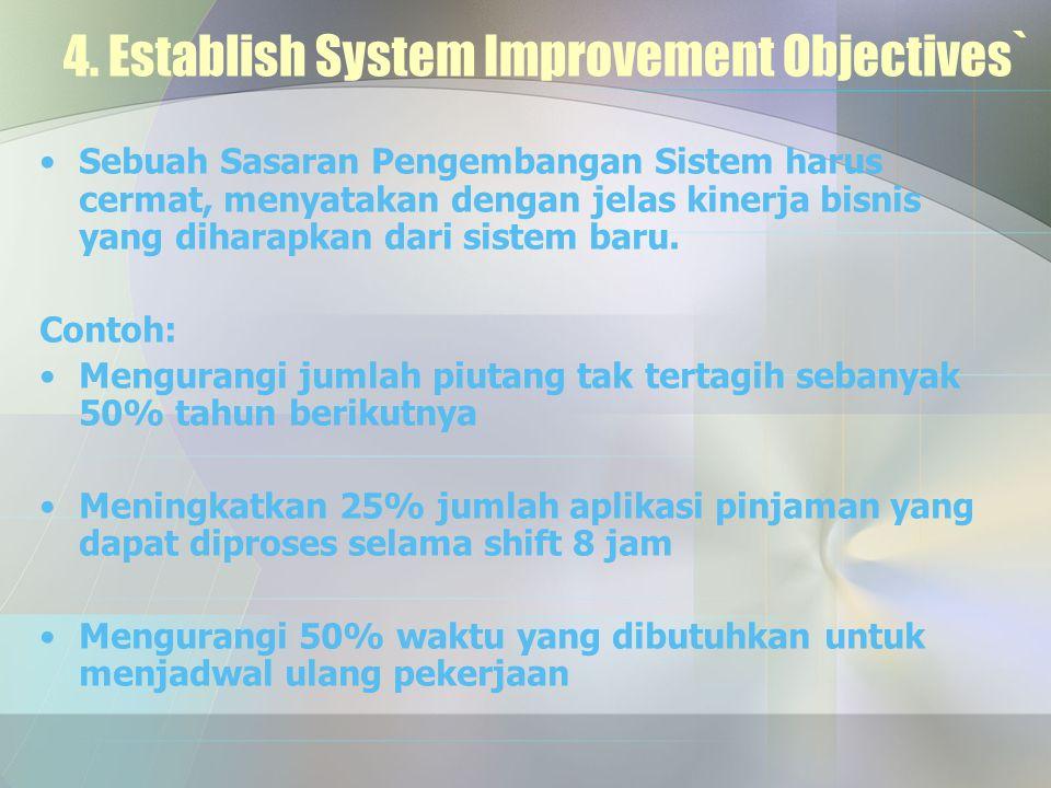 4. Establish System Improvement Objectives`