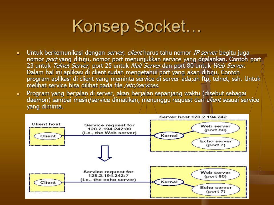 Konsep Socket…