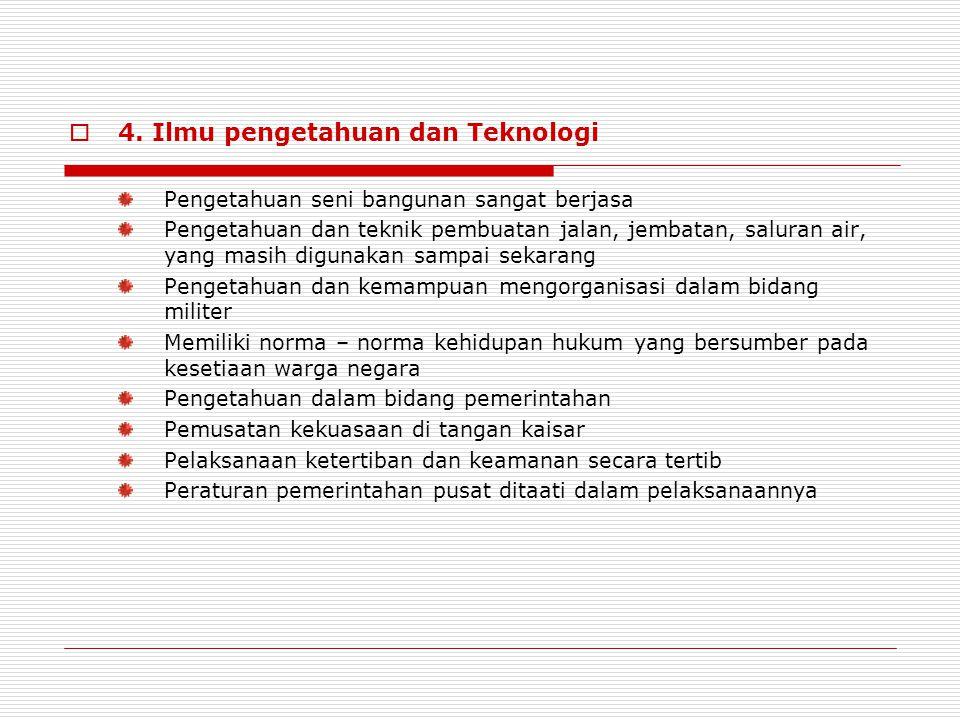 4. Ilmu pengetahuan dan Teknologi