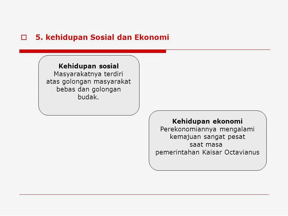 5. kehidupan Sosial dan Ekonomi