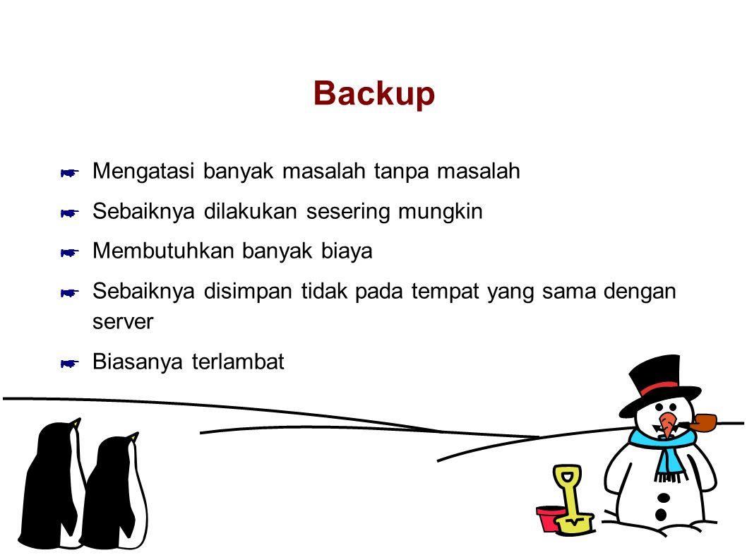 Backup Mengatasi banyak masalah tanpa masalah