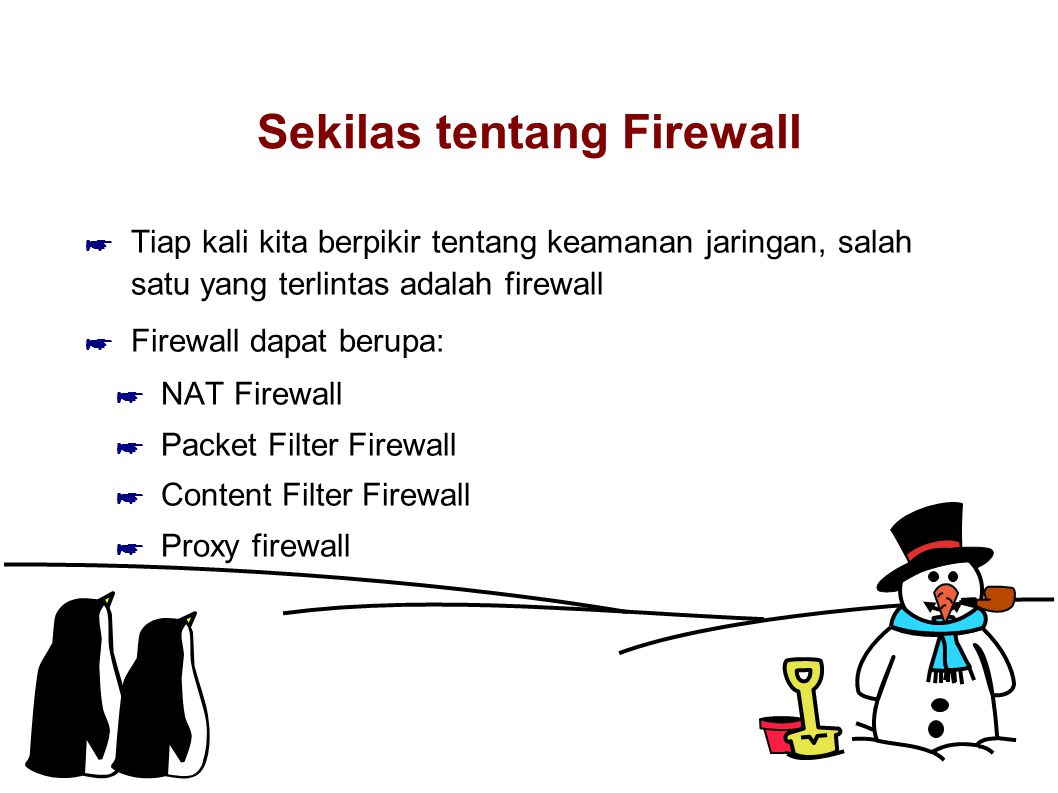 Sekilas tentang Firewall
