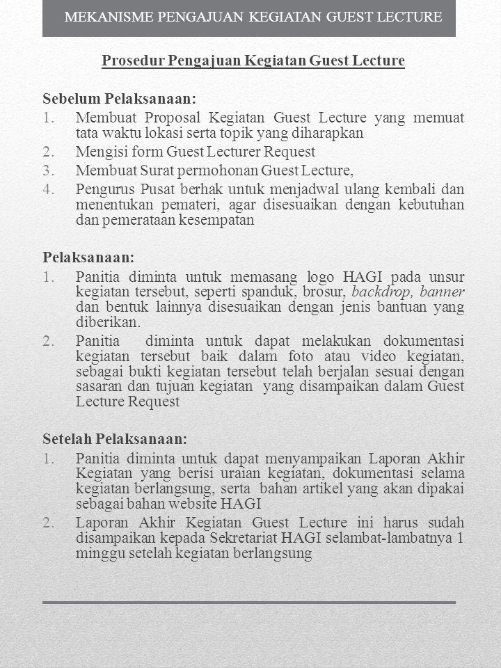 Prosedur Pengajuan Kegiatan Guest Lecture