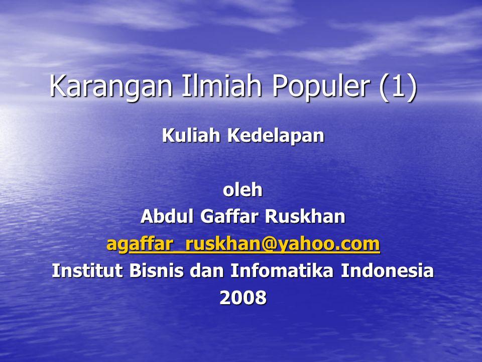 Karangan Ilmiah Populer (1)