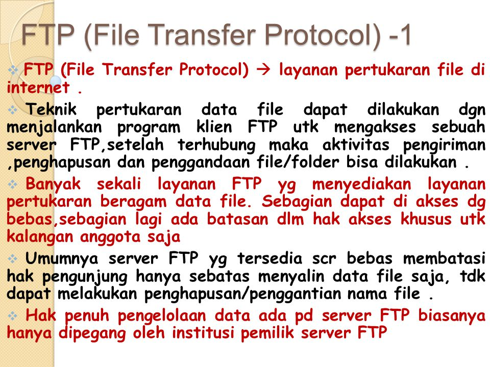 FTP (File Transfer Protocol) -1