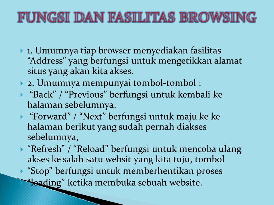 FUNGSI DAN FASILITAS BROWSING