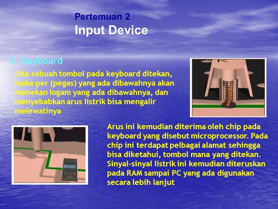 Input Device Pertemuan 2 C. Keyboard