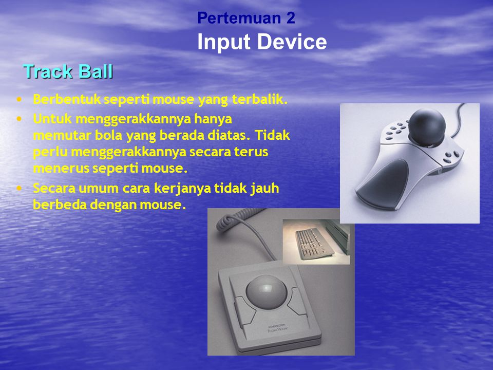 Input Device Track Ball Pertemuan 2