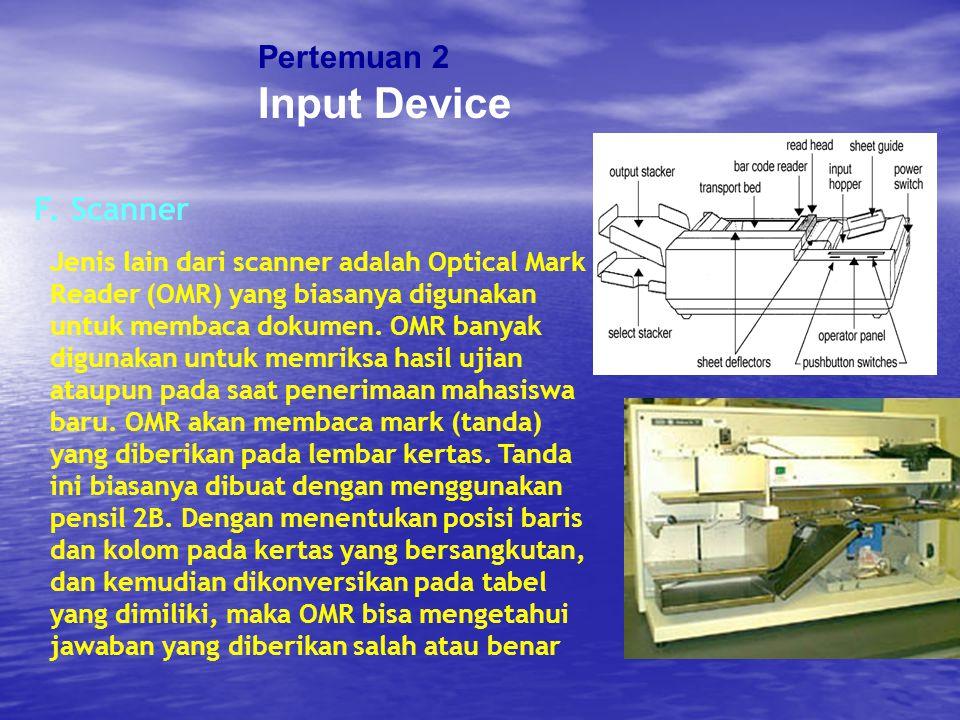 Input Device Pertemuan 2 F. Scanner