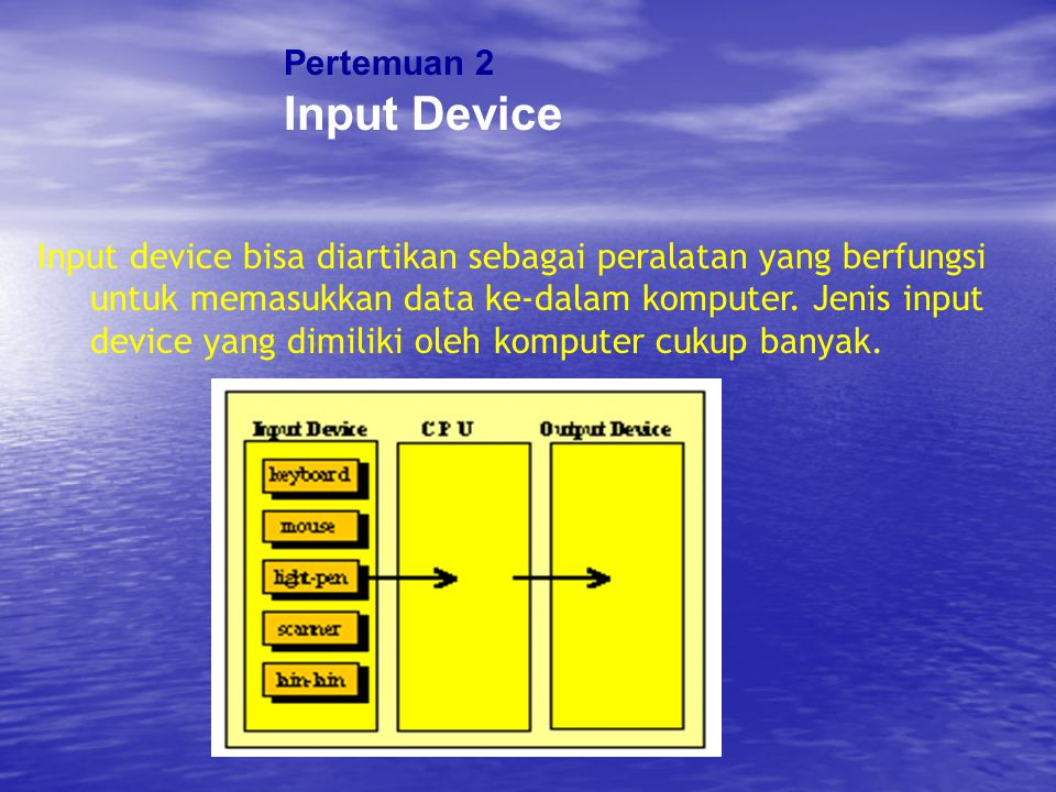 Input Device Pertemuan 2