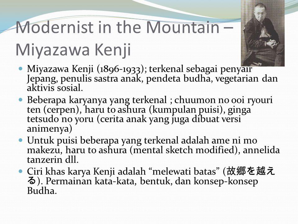 Modernist in the Mountain – Miyazawa Kenji