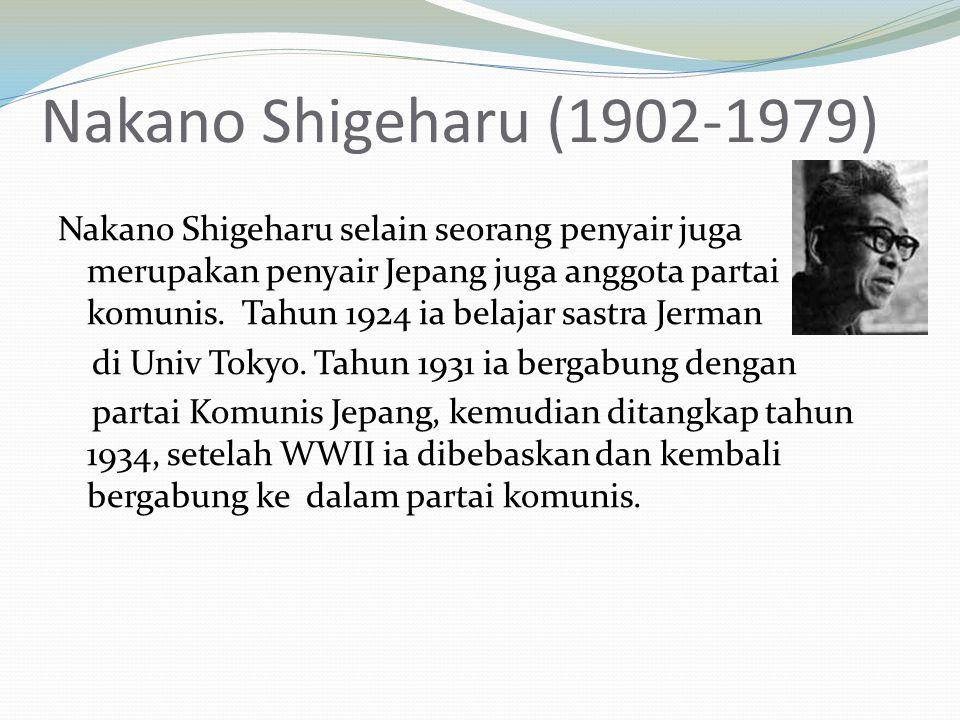 Nakano Shigeharu (1902-1979)