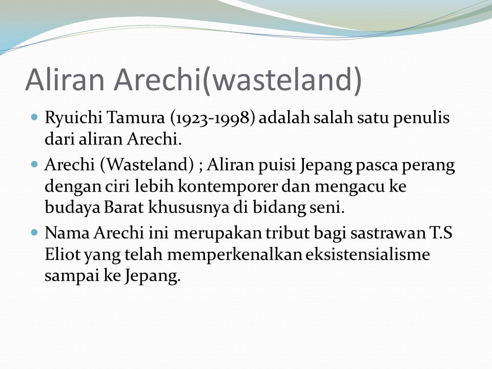 Aliran Arechi(wasteland)