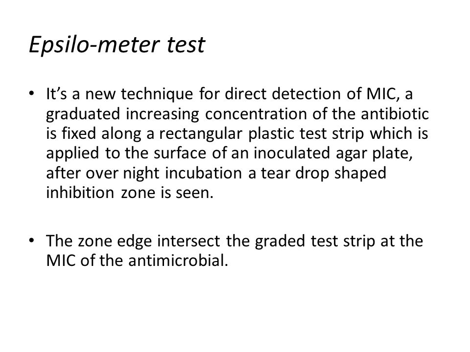 Epsilo-meter test