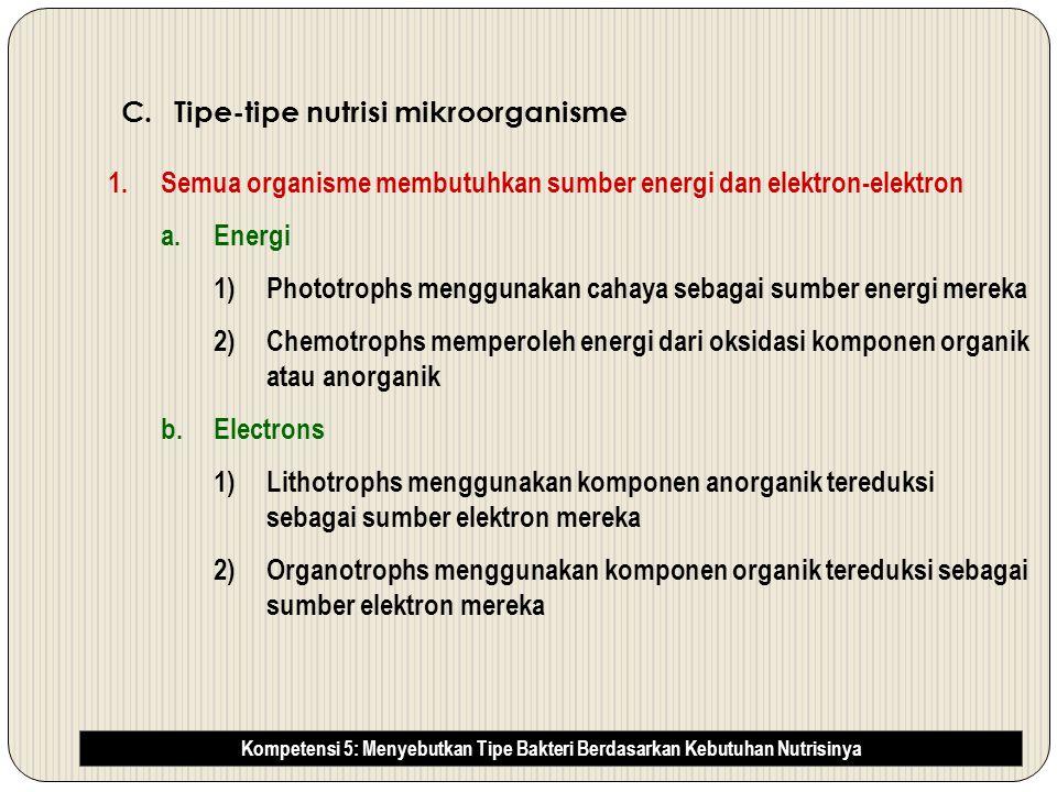 Tipe-tipe nutrisi mikroorganisme