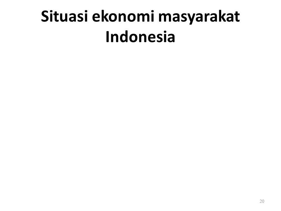 Situasi ekonomi masyarakat Indonesia