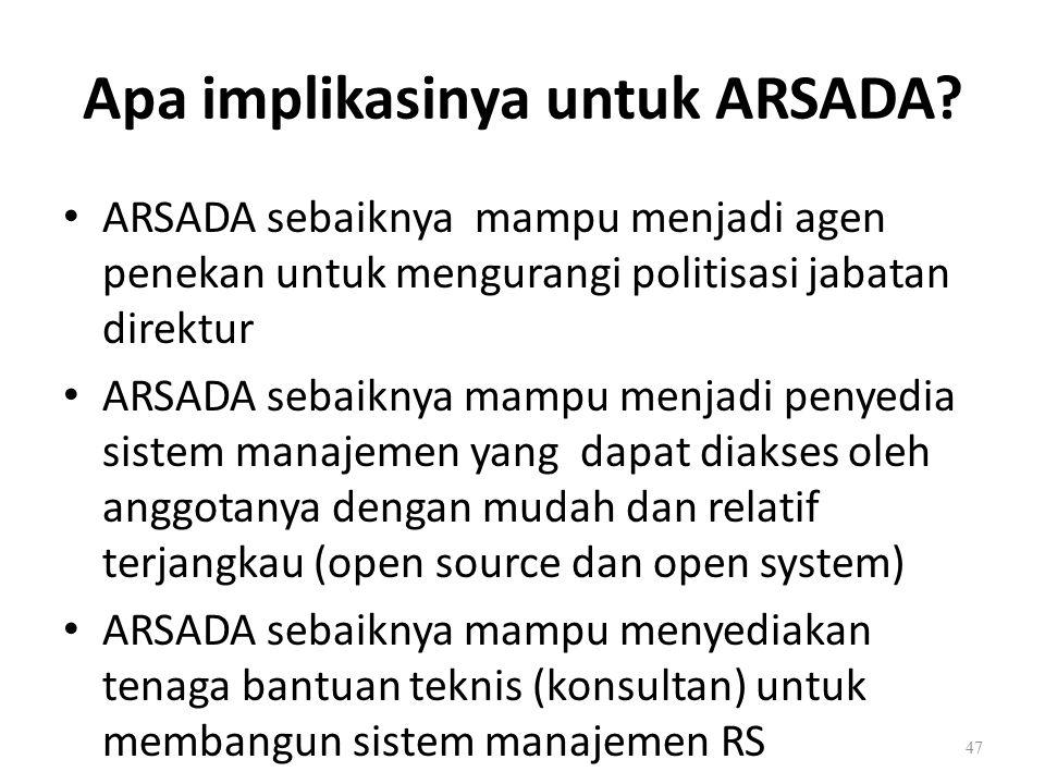 Apa implikasinya untuk ARSADA