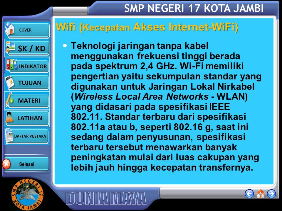 Wifi (Kecepatan Akses Internet-WiFi)