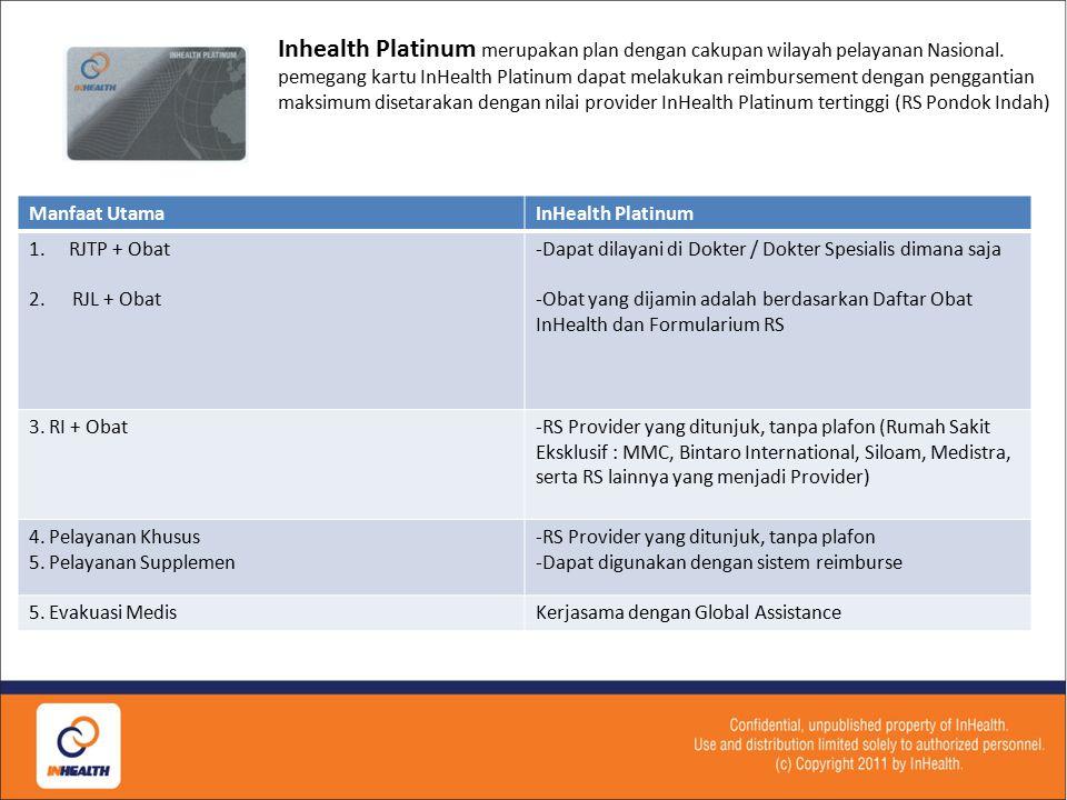 Inhealth Platinum merupakan plan dengan cakupan wilayah pelayanan Nasional.