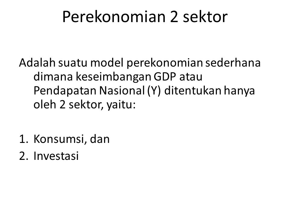 12/23/08 Perekonomian 2 sektor.