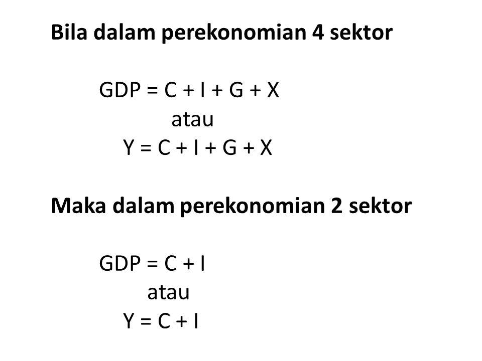 Bila dalam perekonomian 4 sektor