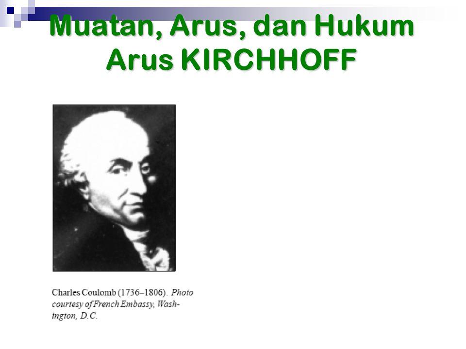 Muatan, Arus, dan Hukum Arus KIRCHHOFF