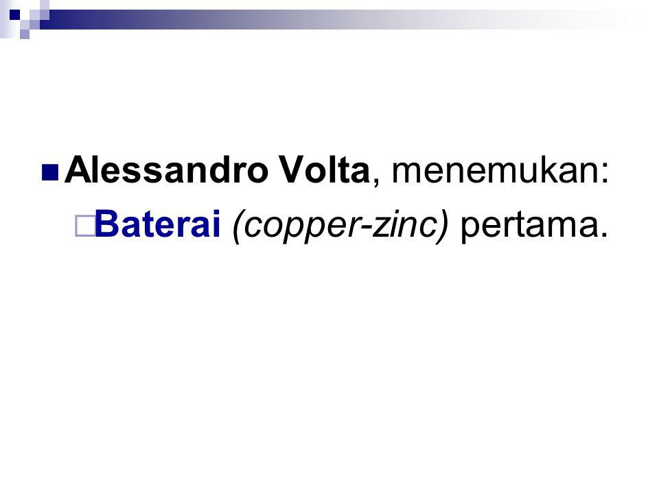 Alessandro Volta, menemukan: