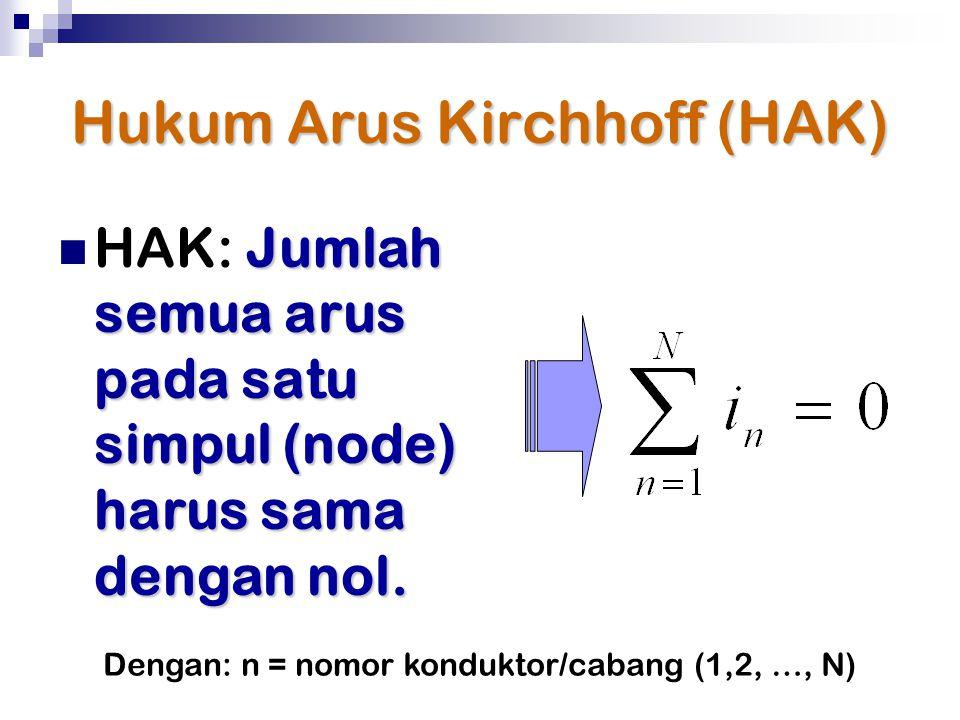 Hukum Arus Kirchhoff (HAK)