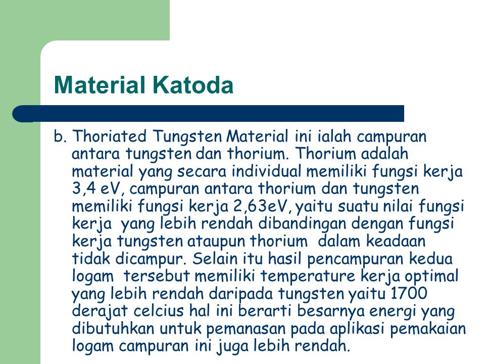 Material Katoda