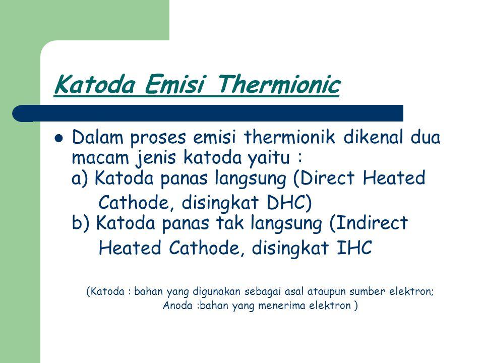Katoda Emisi Thermionic