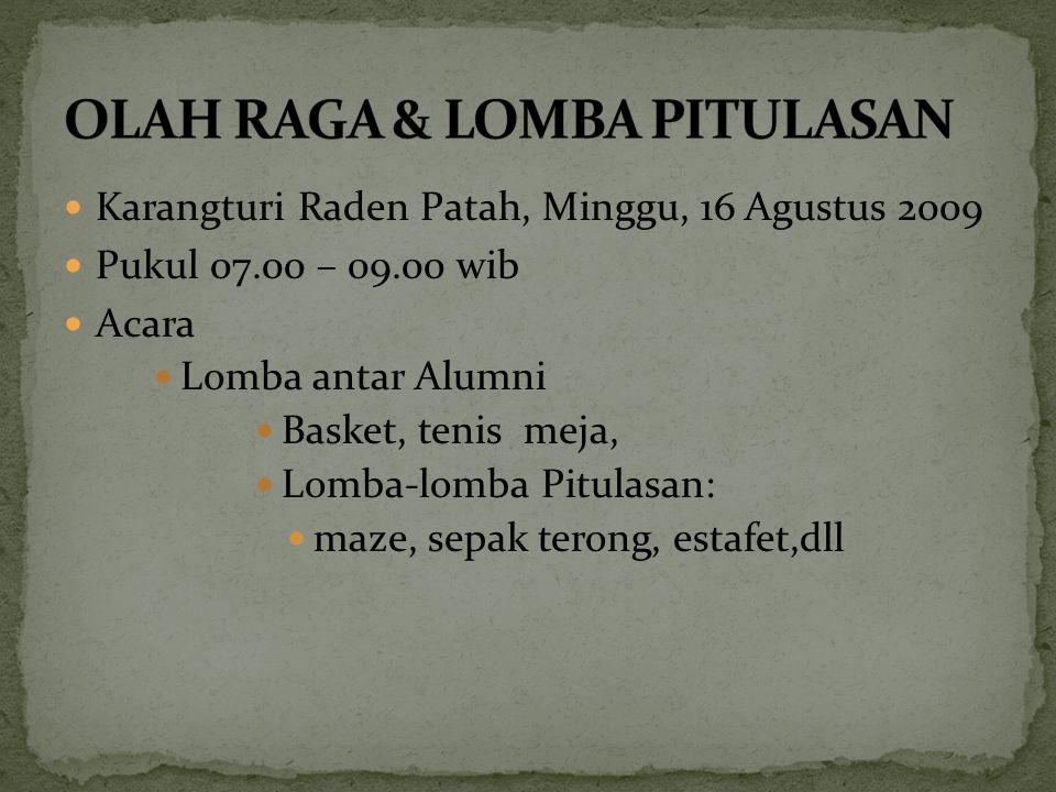 OLAH RAGA & LOMBA PITULASAN